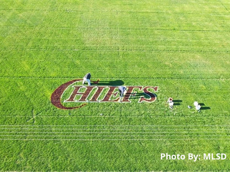 Moses Lake School District  writing every senior name near CMMS to honor the class of 2020
