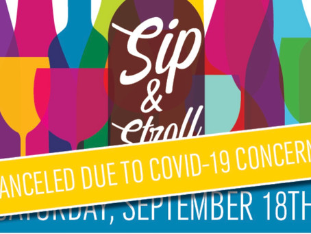 2021 Sip & Stroll canceled due to rising COVID-19 concerns