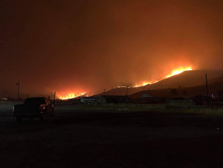 Nespelem fire grows past 10,000 acres, destroyed 14 structures, and has killed livestock