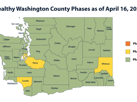Gov. Inslee and WADOH agree to roll back Whitman, Pierce, and Cowlitz counties back to Phase 2