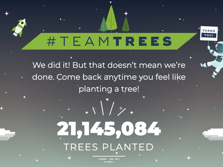 Team Trees and the general public to plant 20 Million Trees to combat climate change