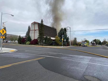 Ephrata's United Methodist Church catches fire Sunday morning