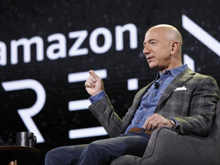 Founder/CEO Jeff Bezos will step down as CEO later this year but will still oversee Amazon