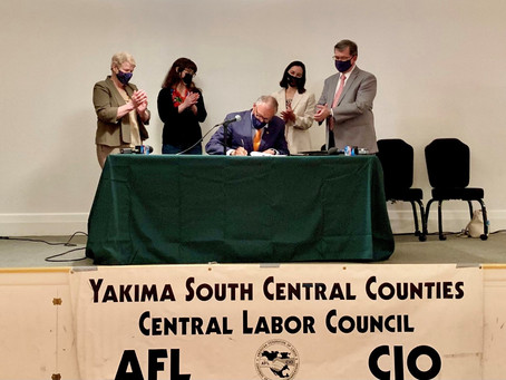 Inslee signs worker protection legislative package giving labor protections laws to farm workers