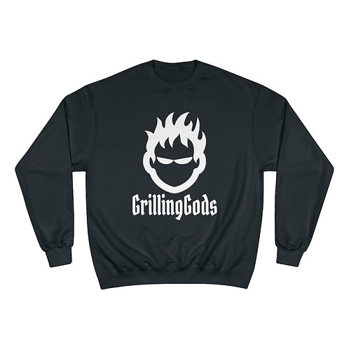 Champion Sweatshirt with Grilling Gods white logo