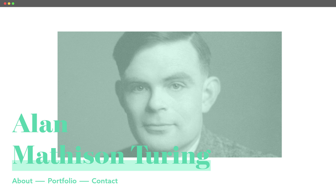 Bio Website - Homepage (2020)