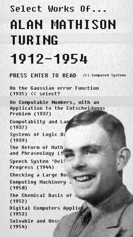 The Alan Mathison Turing Collection (2017)