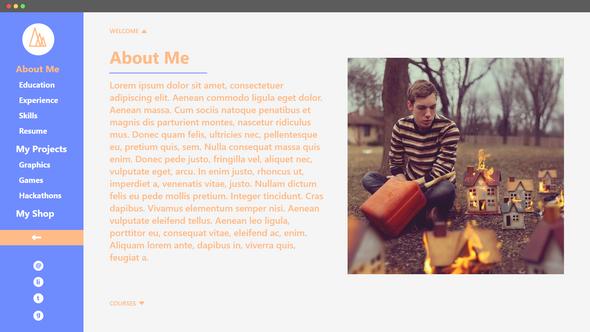 Bio Website - About Me Menu Open (2019)