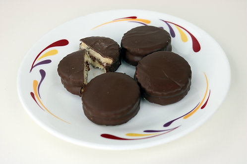 Alfajores Dipped in Dark Chocolate (10/box)