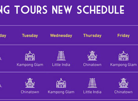 Free Walking Tour New Schedule