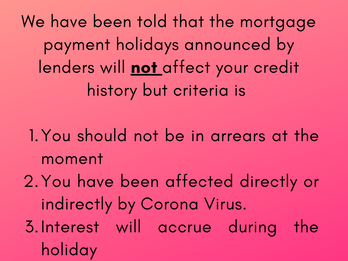 Payment holidays