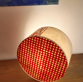 Lampe tambour rouge