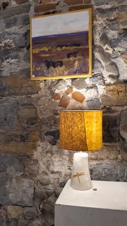 Lampe pied ceramique Florence Portefaix.