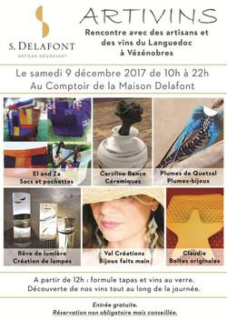 Expo Artivins maison Delafont