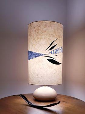 Lampe avec pied en Cyprès (Jirima)