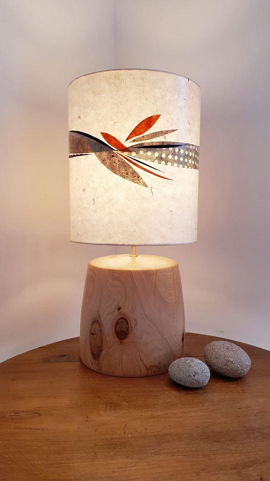 Lampe tandem avec l'atelier Jirima tourn