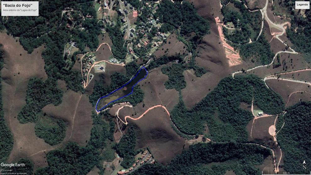 Imagem de satélite da Bacia do Fojo - Campos do Jordão