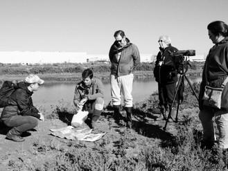 Miembros del Worcestershire Wildlife Trust visitan La Covacha