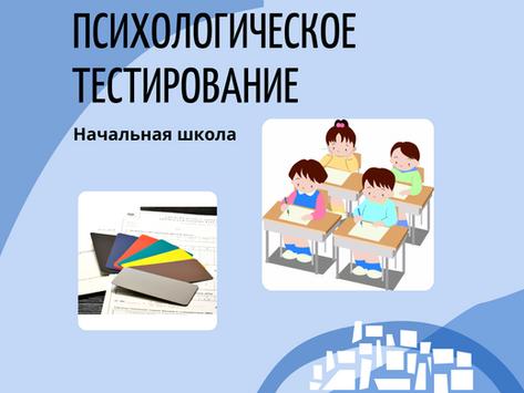"""Психологическое тестирование в рамках программы """"Человековедение"""" в 1-3 классах частной школы"""