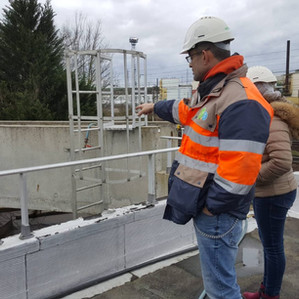 Visite de la station d'épuration SUEZ de Creil