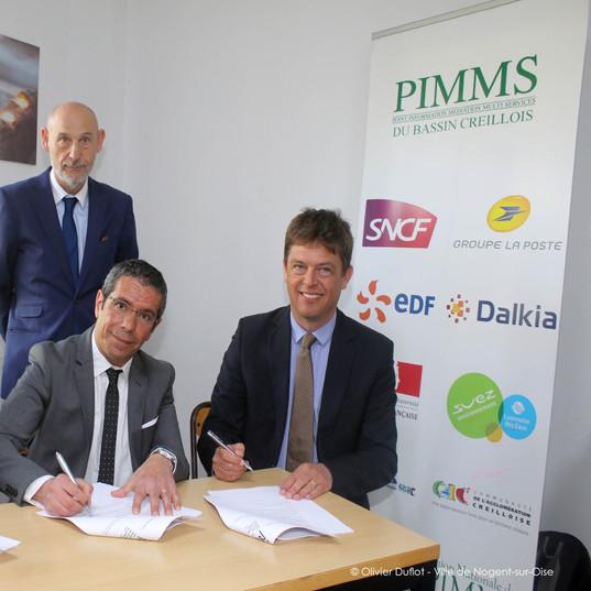 Signature de la MSAP le 28 avril 2018 en présence du Sous-Préfet de Senlis, M. CLORIS Francis