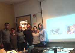 Alexia presenting her thesis to lab.