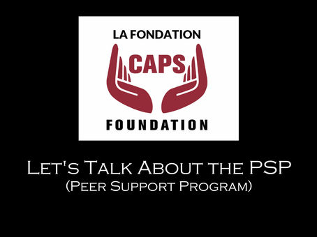 Let's Talk About the Peer Support Program (PSP)