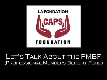 Let's Talk About the Professional Members Benefit Fund (PMBF)