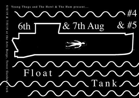 Featured artist at Float Tank #5, Riverside Festival, August 2019
