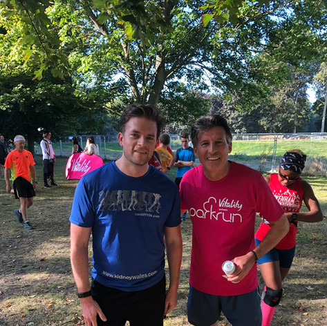 I try to take part in the weekly Parkrun, and occasionally get beaten by Olympic medal winners!