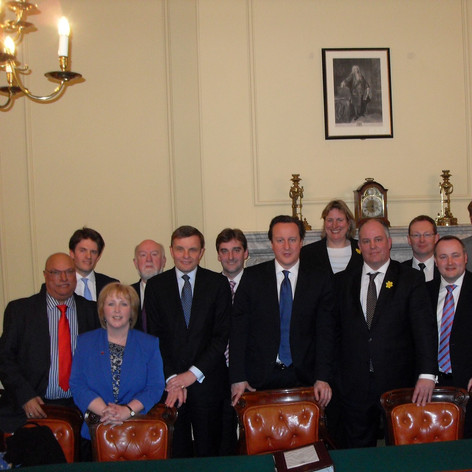 Meeting David Cameron with the Welsh Conservatives in the cabinet room at 10 Downing Street
