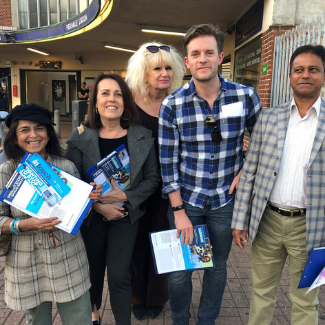 Out campaigning in Ealing