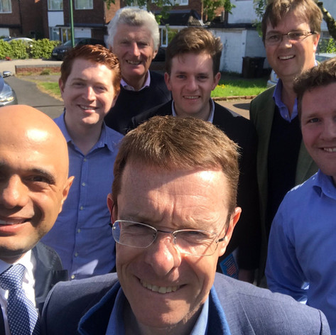 Campaigning with Sajid Javid and Andy Street