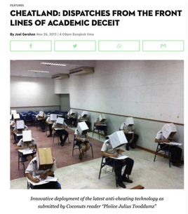 Cheatland: Dispatches from the Front Lines of Academic Deceit. Coconuts, Nov. 2013
