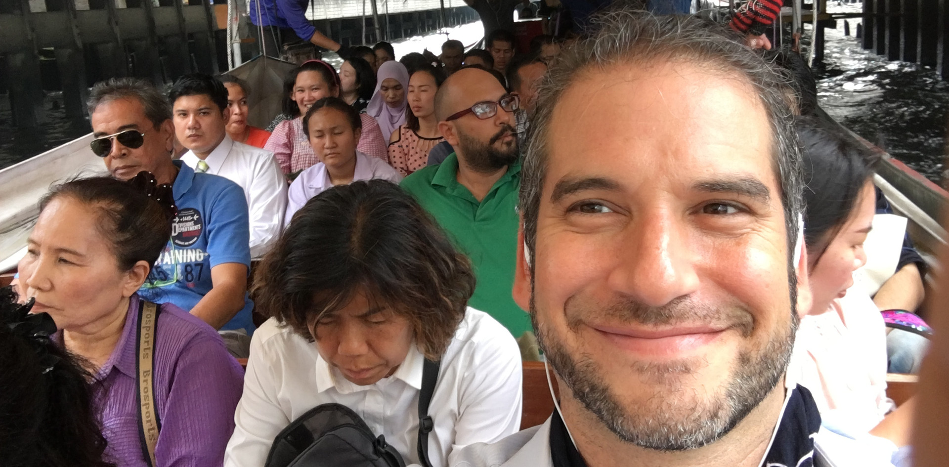 Selfie on the Bangkok canal boat