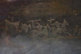 Bhimbetka cave, India, 2009