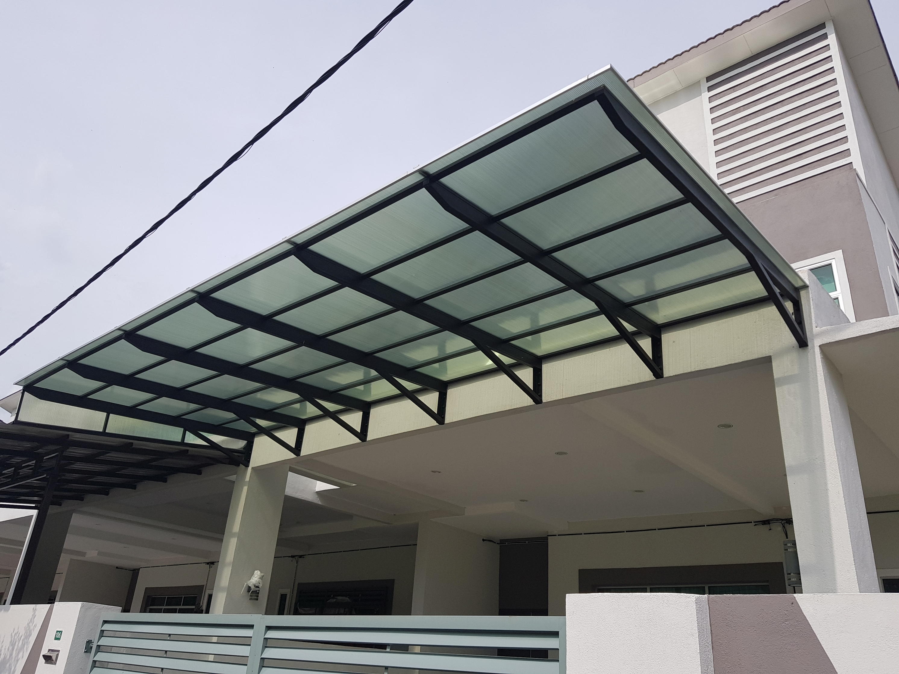 Ipoh Perak Lexan Thermoclear SCIR 5 Walls Polycarbonate Awning