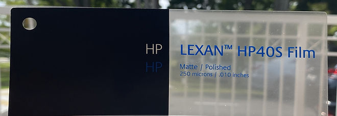 LEXAN™ HP40S Polycarbonate Film. Low 40% Gloss Coated Film