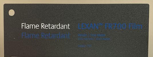 LEXAN™ FR700 Film. Black Flame Retardant for Insulation