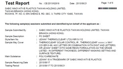 Lexan Thermoclear ROHS 3rd Party Test Report