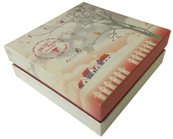 Cover Top Rigid Box with Emboss Printing