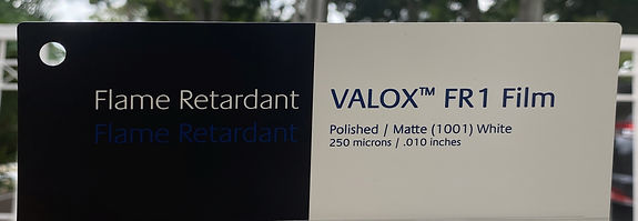 VALOX™ FR1 Film. Translucent White or Black FR Film