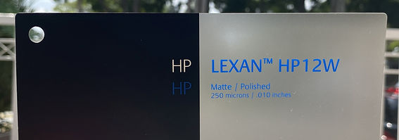 LEXAN™ HP12W Polycarbonate Film. Low Gloss Outdoor Film