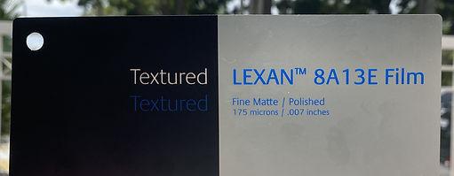 LEXAN™ 8A13E Film. Advanced Low Glare Polycarbonate Film
