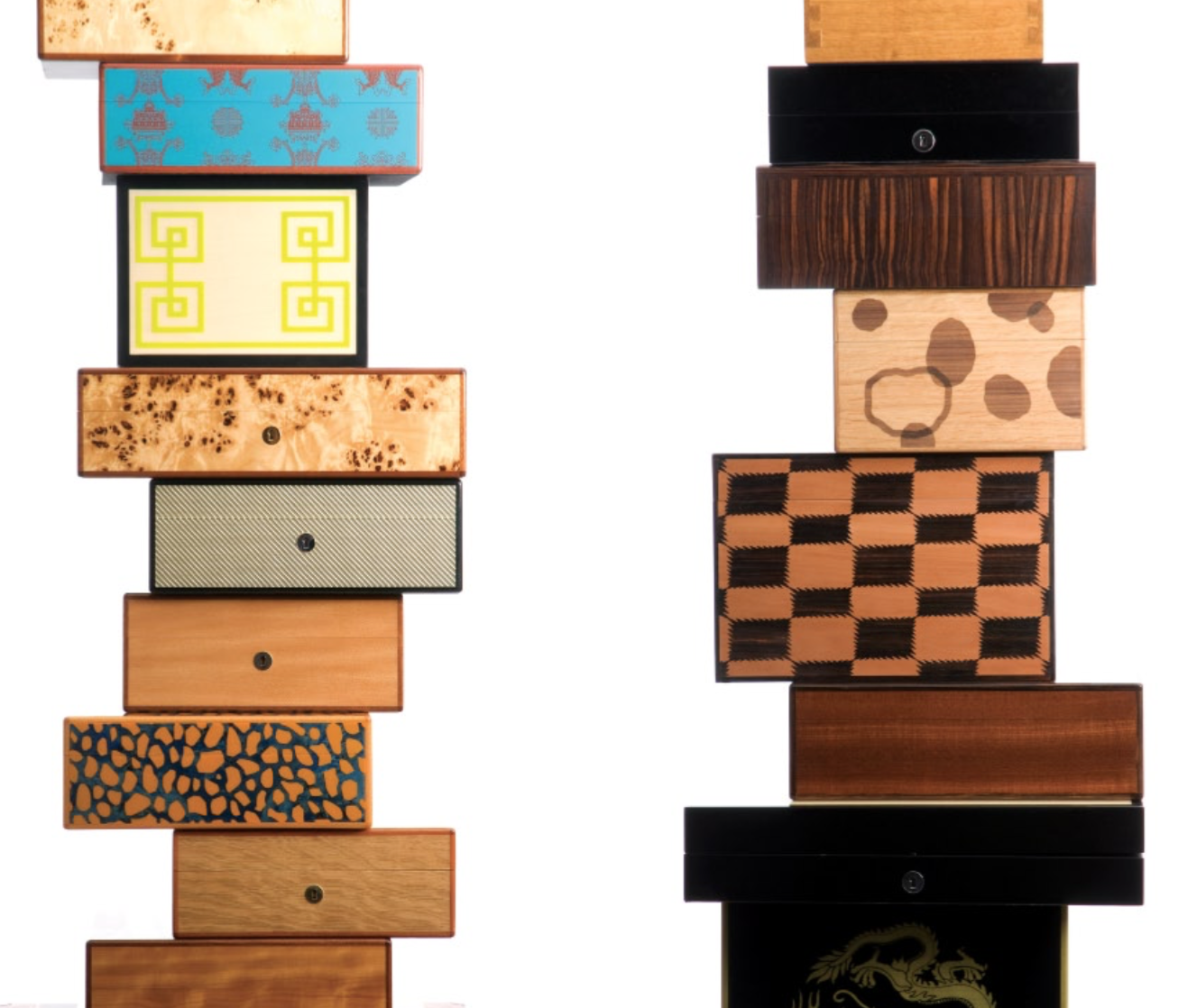 HUMIDORS - CIGARE - JEWELRY BOXES