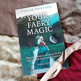 Book - Your Faery Magic with hazel wand and holy stone