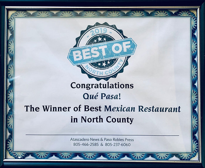 Best Mexican Restaurant Winner