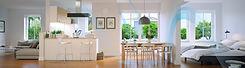 air ventilation through a clean white kitchen