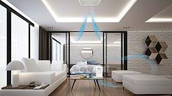 air ventilation through a clean white living room