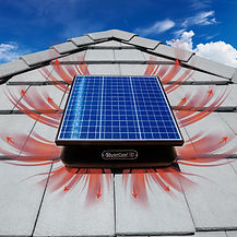 rooftop solar power vent airflow
